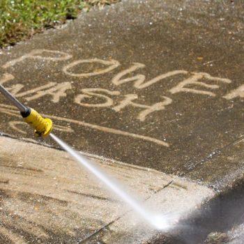 Power Washing Sidewalks